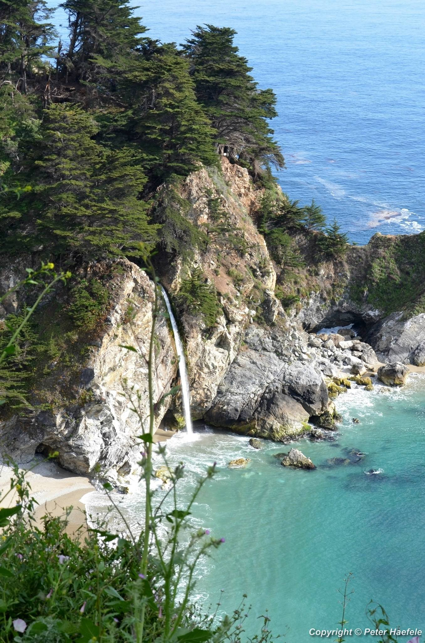 Overlook Trail Wasserfall - Big Sur - California