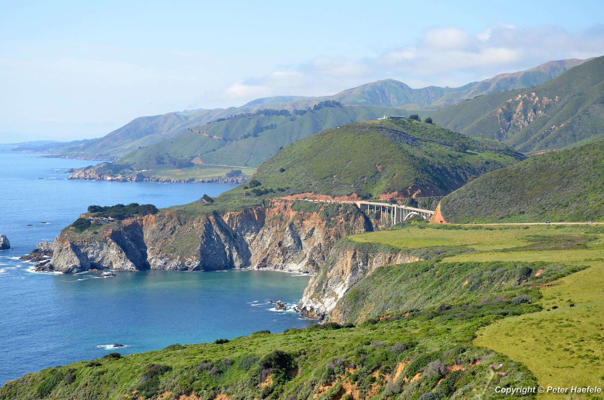 Bixby Bridge - Hurricane Point - Big Sur - Pacific Coast Highway One - Kalifornien
