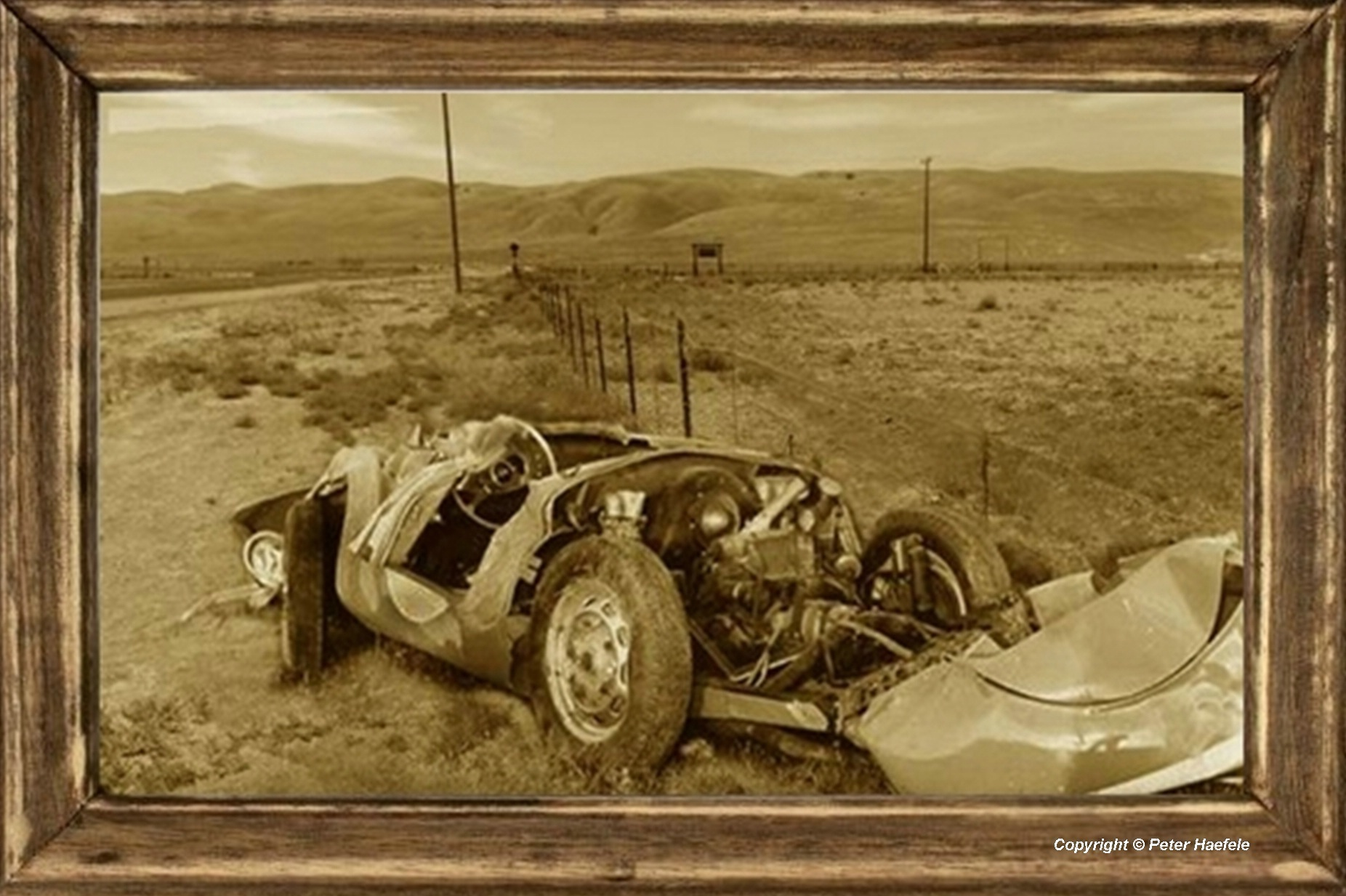James Dean - Porsche 550 Spyder - Car Wreck - Cholame - Kalifornien