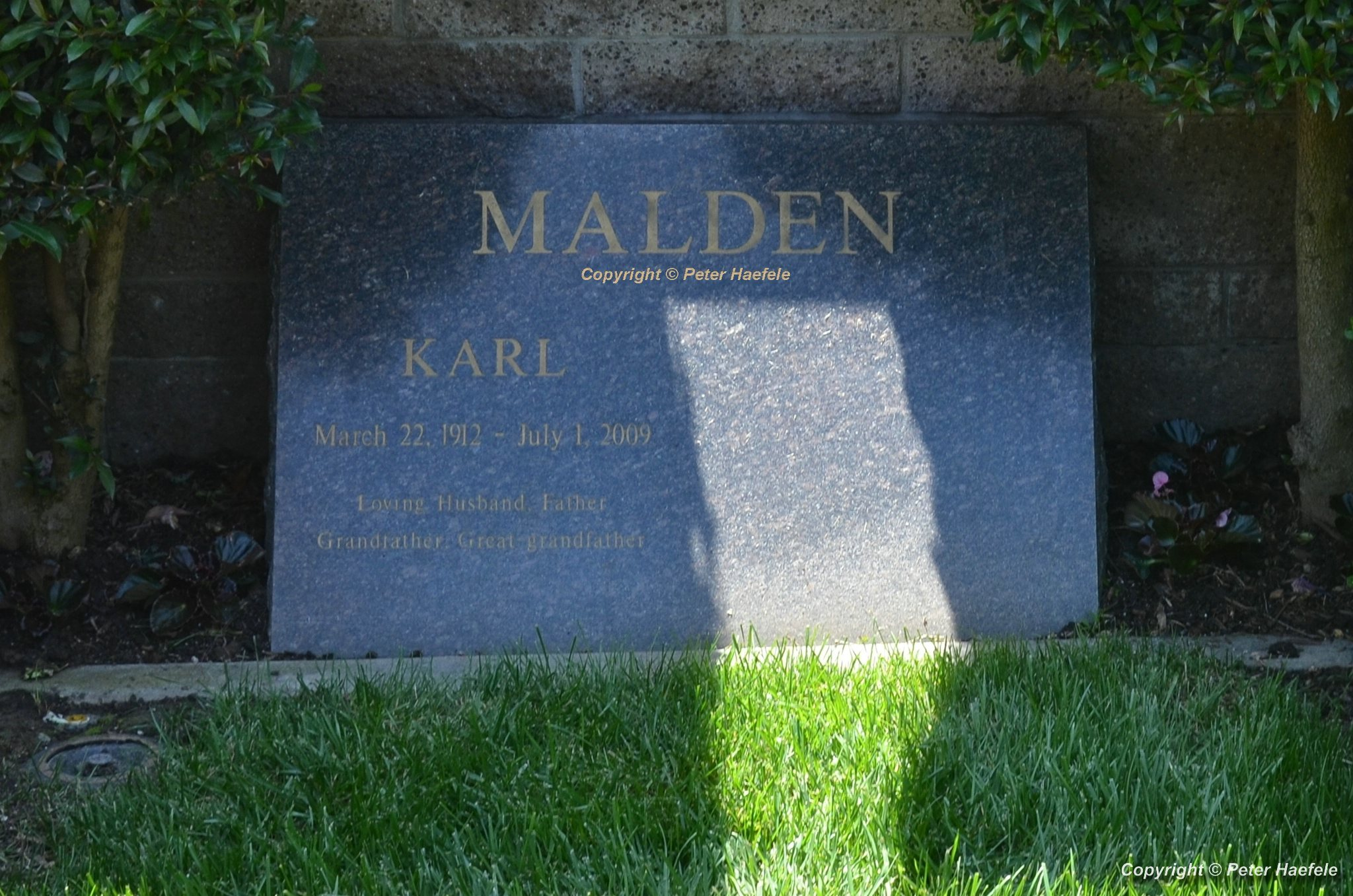 Roadtrip USA - Westwood Village Memorial Park Cemetery - Grave of Karl Malden