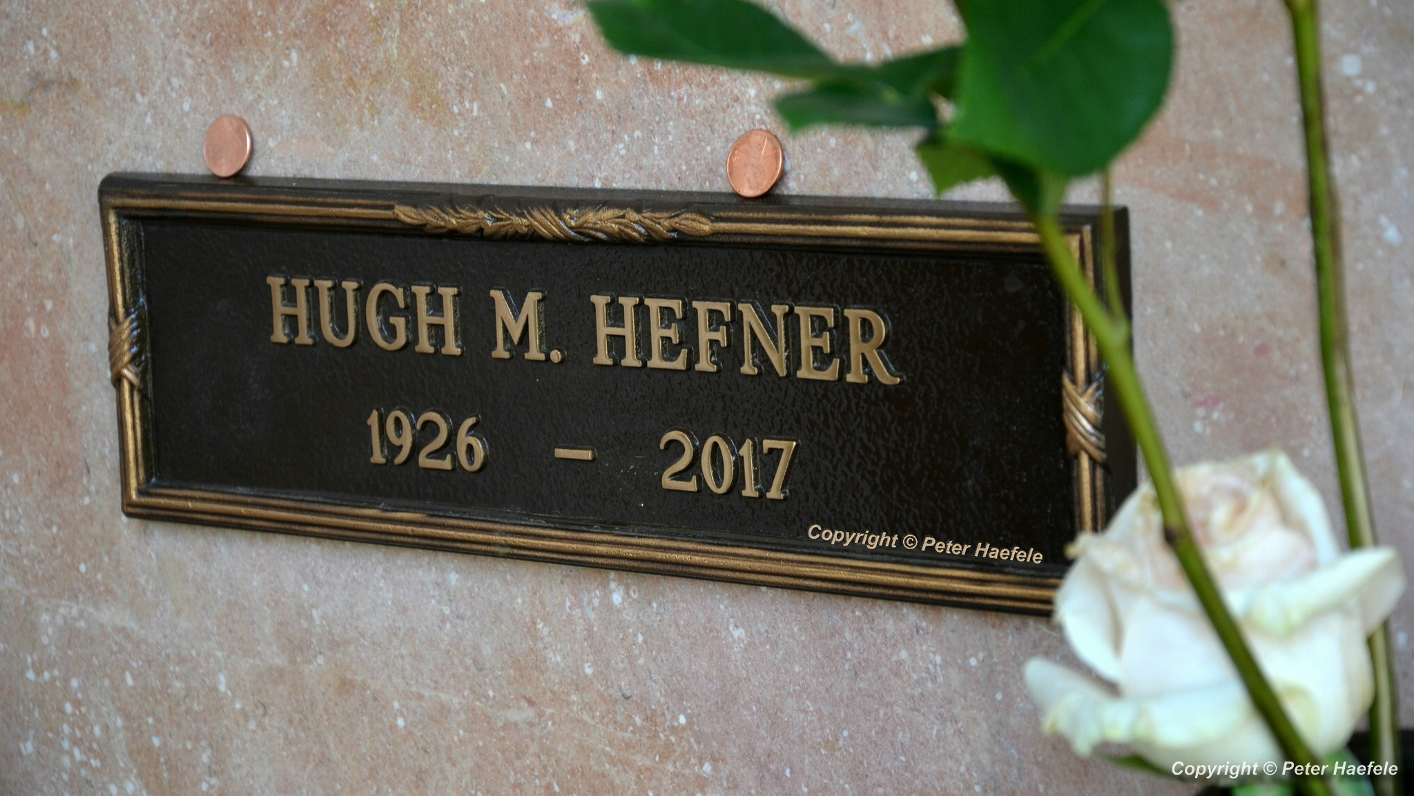 Roadtrip USA - Westwood Village Memorial Park Cemetery - Grave of Hugh Hefner - Corridor of Memories