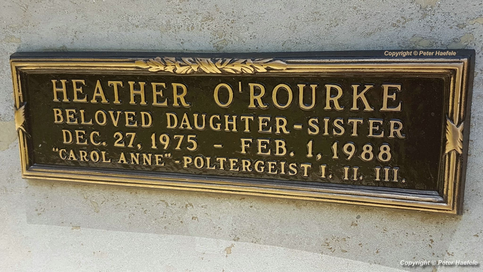 Roadtrip USA - Westwood Village Memorial Park Cemetery - Grave of Heather ORourke - Poltergeist