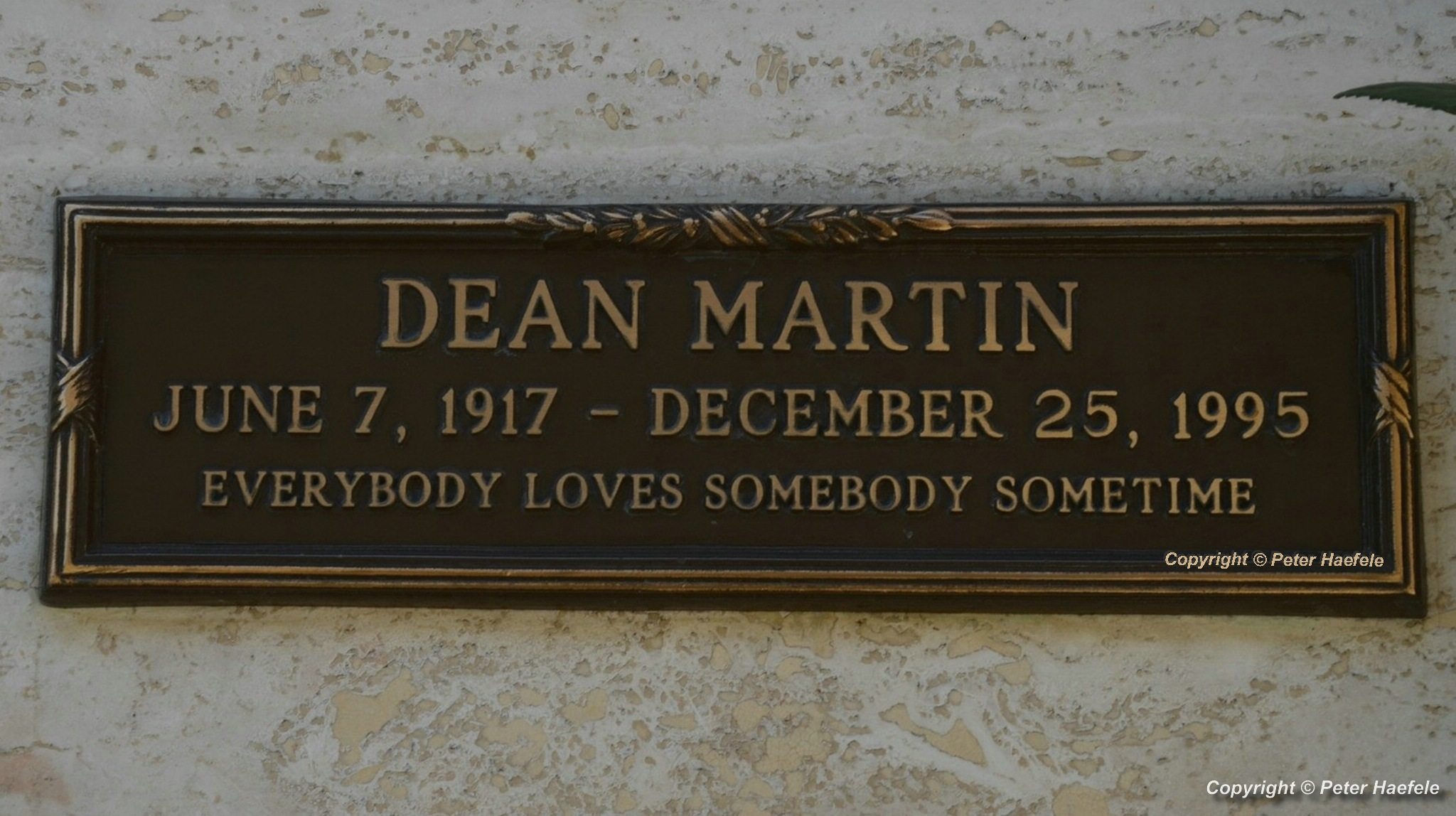 Roadtrip USA - Westwood Village Memorial Park Cemetery - Grave of Dean Martin