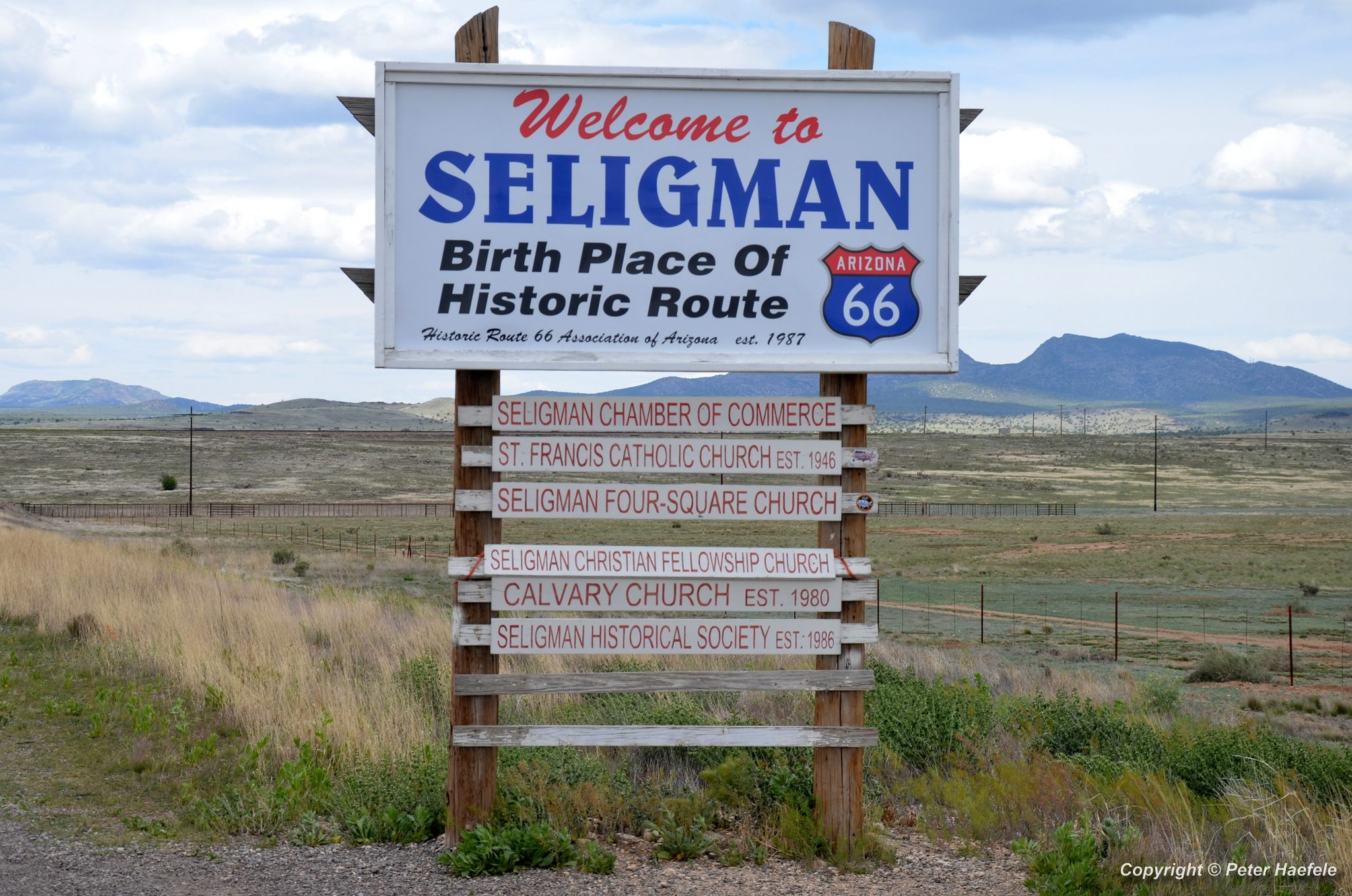 Roadtrip USA - Welcome to Seligman - Birthplace of Historic Route 66